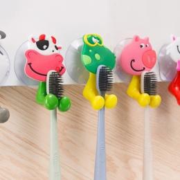 1 sztuk moda gospodarstwa domowego cute Cartoon zwierząt silne frajerem uchwyt na szczoteczki do zębów/przyssawki do zębów szczo