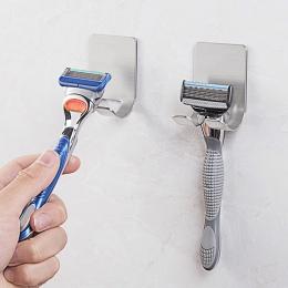 Nowy 1 Pc ze stali nierdzewnej golarka uchwyt na szczoteczkę do zębów ubikacja ścianie kubek hak maszynka do golenia łazienka pr