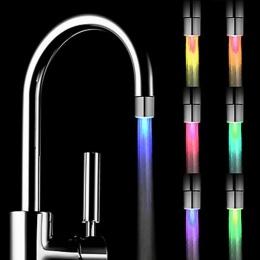 ISHOWTIENDA kran z podświetleniem LED dotknij głowice RGB Glow LED prysznic Stream łazienka prysznic kran 7 zmiana koloru