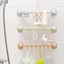 1 PC regulowana opaska stojak podwójna przyssawka wieszak na ręczniki wieszak na ręczniki wiszące półki uchwyt z hakiem typu blo
