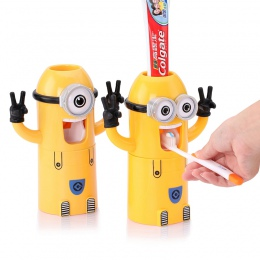 Dla dzieci Minionki Minion automatyczny dozownik pasty do zębów szczoteczki do zębów uchwyt produkty kreatywne akcesoria łazienk