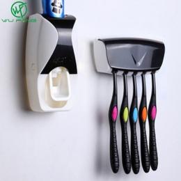 1 zestaw akcesoria łazienkowe zestaw automatyczny dozownik pasty do zębów szczotka do zębów uchwyt na wieszak montażu na ścianie