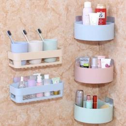 Łazienka półki rogu ściany organizator prysznic szampon uchwyt na papier toaletowy papier ssania pojemnik na termos wieszak na r