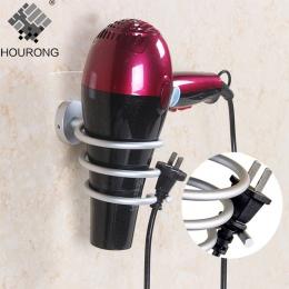 1 sztuk przestrzeń aluminiowa suszarka do włosów uchwyt do uchwyt montowany na ścianie półka suszarka do przechowywania uchwyt n