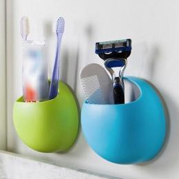 Akcesoria łazienkowe szczoteczka do zębów uchwyt ścienny przyssawki prysznic Holder śliczne Sucker uchwyt na szczoteczki do zębó