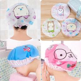 Cartoon prysznic czepek kąpielowy kapelusz do łaźni i saun elastyczna SPA Cap kobiety do włosów dla dziewczynek osłona ochronna