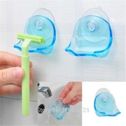 1 sztuk jasne niebieskie plastikowe Super przyssawka wieszak na ręczniki łazienka uchwyt przyssawki golarka 2015 hot darmowa wys