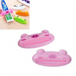 1 sztuka plastikowe Cartoon dozownik pasty do zębów do mycia wyciskarka do wytłaczarki akcesoria łazienkowe świnka/żaba/niedźwie