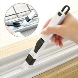 Najnowsze przyjazdy uniwersalny okna drzwi do czyszczenia klawiatury szczotka do czyszczenia + szufelka 2 w 1 narzędzie czarny n