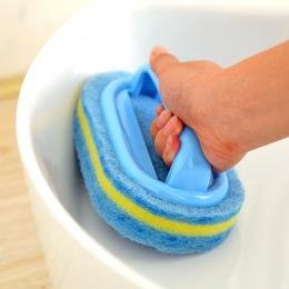 Do czyszczenia kuchni toaleta wc kuchnia szklana ścienna czyszczenie szczotka do kąpieli z tworzywa sztucznego uchwyt gąbka dno
