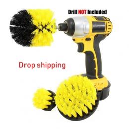 3 sztuk moc Scrubber szczotka wiertła szczotka do czyszczenia do powierzchni łazienki wanna prysznic fuga do płytek akumulatorow