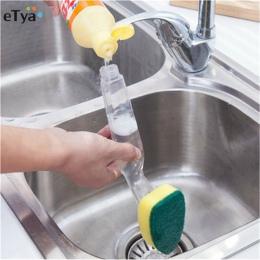 Do mycia naczyń narzędzie dozownik mydła w płynie uchwyt wielokrotnego napełniania misek garnki kubki do czyszczenia gąbki do cz