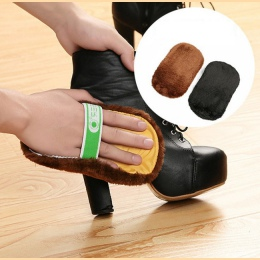 2 sztuk Hot sprzedaż moda miękka wełna pluszowe buty zamszowe do czyszczenia szczotka do czyszczenia butów rękawice do butów wyt