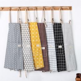 SINSNAN New Hot moda Lady kobiety mężczyźni regulowany bawełna pościel wysokiej jakości fartuch kuchenny do gotowania pieczenia