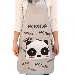 Kobiety wodoodporna Cartoon zwierząt Panda kuchnia gotowanie Bib fartuch bez rękawów odporna na olej talia Bib piękny kuchnia go