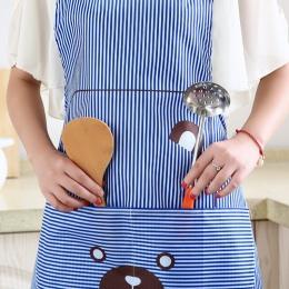 Strona główna kuchnia cute fartuch gotowanie talia druku niedźwiedź moda fartuch koreański wiszące szyi suknia