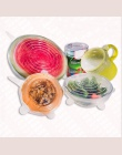 6 sztuk uniwersalny silikon pokrywy miska Pot danie wielokrotnego użytku pokrywki naczyń lodówka owoce uszczelnienie Wrap pokryw