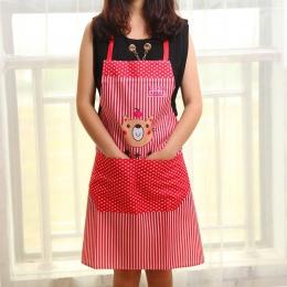 Cartoon niedźwiedź fartuch wodoodporny dla szefów kuchni kuchnia gotowanie pieczenia fartuch narzędzie do czyszczenia domu akces