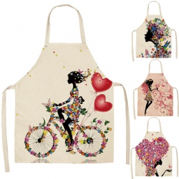 1 sztuk bawełna pościel kwiat motyl dziewczyna drukowane fartuchy kuchenne dla kobiet w domu gotowanie pieczenia talia Bib fartu