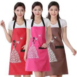 1 sztuk wodoodporny poliester fartuch kobieta śliniaki dla dorosłych domowe gotowanie pieczenia kawy czyszczenie fartuchy akceso