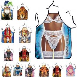 Kuchnia Sexy ApronTablier cyfrowe drukowane śliniaki kobieta śmieszne fartuszek fartuszek do pieczenia do czyszczenia fartuchy d
