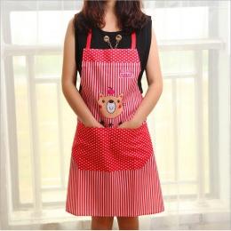 Śliczne kobiety Lady wodoodporny fartuch fartuch sukienka restauracja domowa kuchnia z kieszeni gotowanie bawełny fartuch słodki