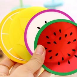 Hot Coaster kształt owoców kubek silikonowy Pad poślizgu izolacji podkładka pod kubek mata podkładka Hot uchwyt na napoje