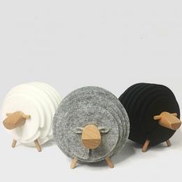 Owca kształt antypoślizgowy podstawki na napoje izolowane okrągły czuł kubek maty śmieszne czułem się kubki podkładki parapetówk
