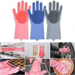 1 para cena fabryczna gospodarstwa domowego silikon rękawice do mycia naczyń kuchenne rękawice do sprzątania mycia naczyń wielof