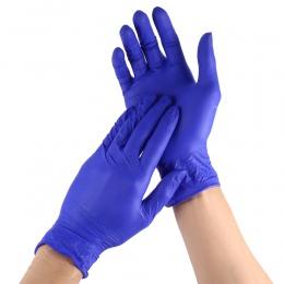 100 sztuk jednorazowe rękawice nitrylowe rękawice gumowe lateksowe do żywności w domu do czyszczenia laboratorium rękawice gumow