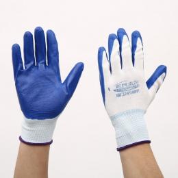 1 para rękawice ogrodowe rękawice ochronne Nylon z powlekane nitrylem rękawice robocze