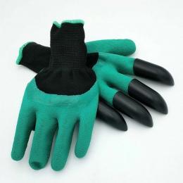 Saingace rękawice ogrodowe z 4 ABS plastikowe pazury do sadzenia w ogrodzie * 20 2017 1 para spadek