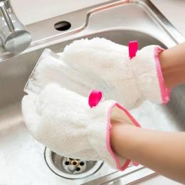 1 pc wodoodporna wytycznych w sprawie pomocy regionalnej rękawiczki białe antypoślizgowe do mycia naczyń rękawica do kuchni narz