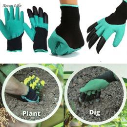 ISHOWTIENDA 1 para 24*12 cm nowy rękawice ogrodowe do sadzenia w ogrodzie z 4 ABS plastikowe pazury