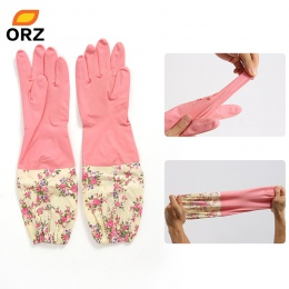 ORZ do czyszczenia kuchni rękawice lateksowe gospodarstwa domowego ciepłe trwałe wodoodporne środki do mycia rąk rękawice woda p