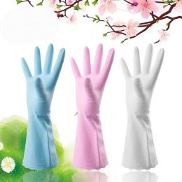 Rękawice gumowe danie gospodarstwa domowego rękawice do mycia z długim rękawem rękawice do sprzątania rozmiar S/M/L
