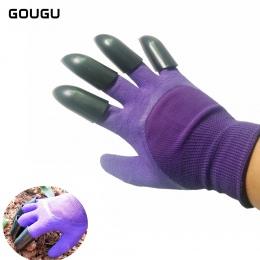 GOUGU najnowszy rękawice ogrodowe do kopania sadzenia Genie rękawice ogrodowe z 4 ABS plastikowe pazury 3 kolor