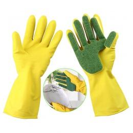 1 para kreatywny do prania w domu rękawice do sprzątania ogród kuchnia danie gąbka palce gumowe rękawice do sprzątania do zmywan