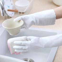 2x magia rękawice wodoodporne lateks z długim rękawem naczynia do rękawice do sprzątania do mycia naczyń rękawice do mycia naczy