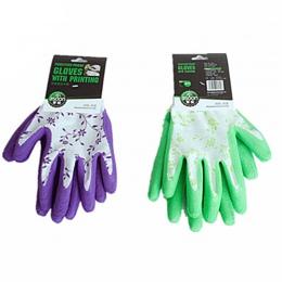 1 para lateksowe rękawice trwałe rękawice gumowe do sadzenia pracy odporne na przebicie rękawice do sprzątania zielony fioletowy