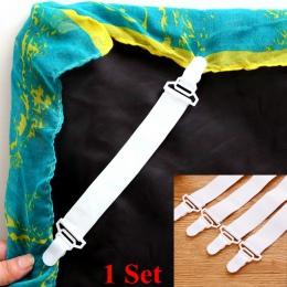 4 sztuk białe prześcieradło pokrycie materaca koce domu chwytaki zacisk mocujący łączniki elastyczne paski mocowania antypoślizg