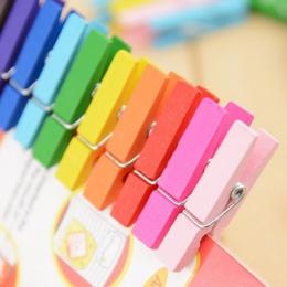 50 sztuk mieszane kolor Mini drewniany kołek Pin Clothespin Decor Craft klipy papieru fotograficznego ubrania 25mm 35mm 45mm dro
