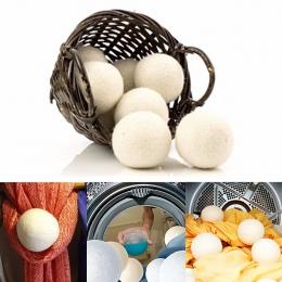 6 sztuk/paczka pralnia czysta piłka wielokrotnego użytku naturalne organiczne pranie zmiękczacz tkanin piłka Premium organiczne