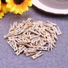 100 sztuk 2.5 CM gorąca sprzedaż Mini naturalne drewniane ubrania papier fotograficzny Peg Pin Clothespin Craft klipy szkolne ma