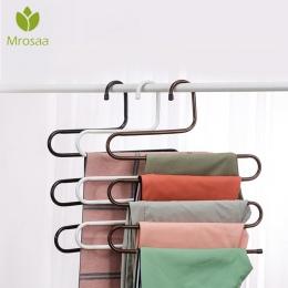 Ze stali nierdzewnej szafa stalowa do przechowywania S typ spodnie spodnie wieszak odzież wielowarstwowa wieszak na ręczniki sza
