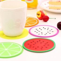 Nowość śliczne Coaster kształt owoców kubek silikonowy Pad poślizgu izolacji podkładka pod kubek mata podkładka Hot uchwyt na na