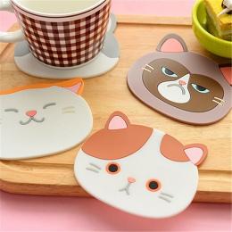 W kształcie kota podkładka pod herbatę podkładka pod kubek do kawy napoje napój krzemu Coaster Pad