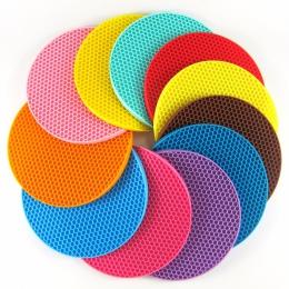 Donica silikonowa uchwyty, uniwersalny okrągły uchwyty garnków, trivety, otwieracze do słoików i łyżki-bardzo grube