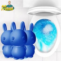Śliczne niebieski królik Środek czyszczący do WC magia automatyczne Flush Środek czyszczący do WC pomocnik niebieski do czyszcze