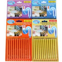 12/zestaw Sani Sticks oleju odkażanie kuchnia toaleta wanna środek do udrażniania odpływów kanalizacji pręt do czyszczenia wygod